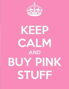 Keep calm and buy pink stuff #LaMiaCara #PinkGems