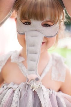 Custom Made Pink And Grey Elephant Ears For Silly Lil' Elephant Costume