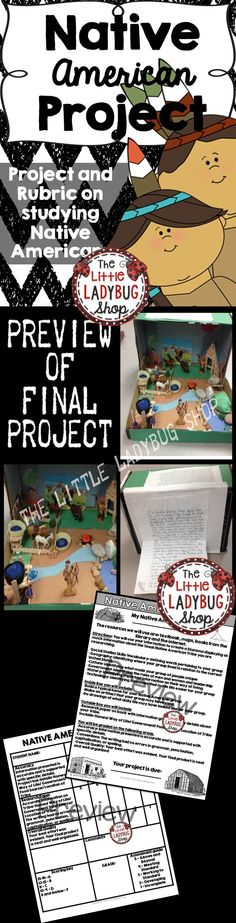 Native American Project | Texas Native American | Native America Study | Comanches | Apache | Karankawas   This FUN and interactive projects is always one of my student's favorites! It is a fantastic way to study and learn about all the Native American Tribes. We focused on a small region and each group would study a different tribe and present to class. Rubric is included.