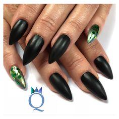 #coffinnails #ballerina #shape #gelnails #nails #darkgrey ...