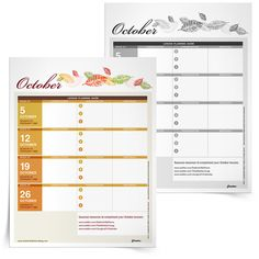 Download this helpful, printable calendar to help you organize your Religious Education course for the month of October | Sadlier Religion #Catholic #Catholics #Catechist #Catechesis