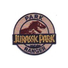 Jurassic Park Movie Park Ranger Logo Embroidered Patch, NEW UNUSED ❤ liked on Polyvore featuring filler