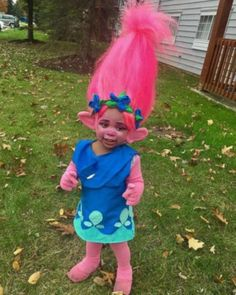 troll costumes for kids / troll kids costume & troll costume diy kids & troll halloween costume kids & poppy troll costume kids & diy poppy troll costume kids & troll costume kids boy & troll doll costume kids & troll costumes for kids Poppy Halloween Costume, Little Girl Halloween Costumes, Toddler Girl Halloween, Couple Halloween, Halloween Costume Trolls, Zombie Costumes, Kids Costumes Girls, Frozen Costume, Couple Costumes