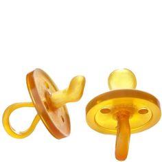 Natursutten Orthodontic Rubber Pacifier - 100% natural rubber, no latex, no artificial color, no chemical softeners, eco-friendly