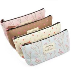New Flower Floral Pencil Pen Case Cosmetic Travel Makeup Bag Storage Pouch Purse. package pc bag converse : 1 inch = or = in. Makeup Storage Bag, Bag Storage, Makeup Bags, Pencil Bags, Pencil Pouch, Style Floral, Floral Design, Flower Pens, Flower Canvas