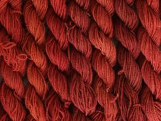 Madder dyed according to a medieval recipe