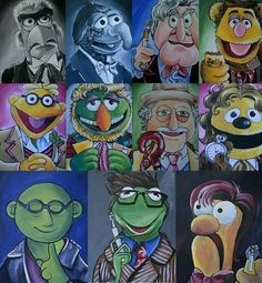 All 11 Doctors rendered as Muppets.