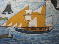 アルフレッド・ウォリス「青い船」