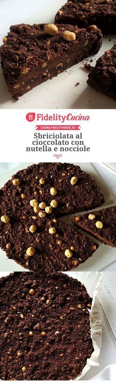 Sbriciolata al cioccolato con nutella e nocciole