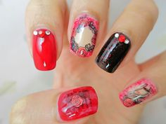 Bloody Roses Water Decal Nail Art BLE1770