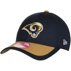 Casual weekends were made for your Women's Los Angeles Rams New Era navy adjustable hat.
