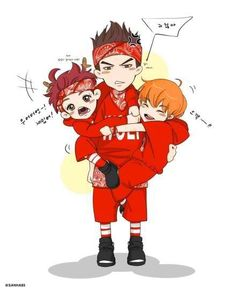 Kris with Xiumin & Luhan fanart... Ahhh its so cute that there r no words to describe it!!!! :D