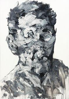 untitled oil on canvas x cm 2013 by KwangHo Shin, via Behance Abstract Portrait, Portrait Art, Modern Art, Contemporary Art, A Level Art, Identity Art, Wow Art, True Art, Painting Inspiration