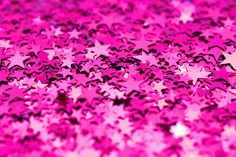 pink confetti stars