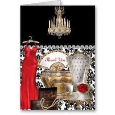 WOMEN'S VINTAGE THANK YOU CARD