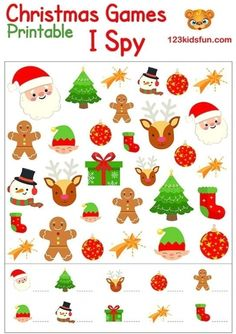 Printable Christmas Games, Christmas Worksheets, Christmas Decorations For Kids, Christmas Activities For Kids, Christmas Ideas, Kids Christmas Coloring Pages, Theme Noel, Noel Christmas, Xmas Crafts