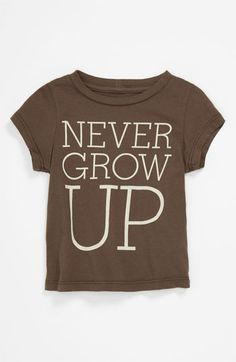 Peek 'Never Grow Up' T-Shirt (Infant) available at #Nordstrom