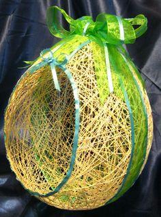 String egg easter basket