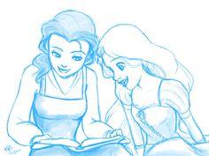 Bookworms - sketch by ~kra on deviantART