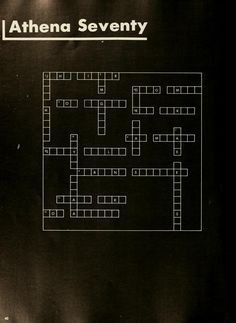 Athena yearbook, 1970.  Crossword puzzle :: Ohio University Archives