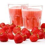 Strawberry Smoothie Strawberries are just about everybody's favorite — and here, nothing gets in the way of that great strawberry flavor you love. Calories - 82 Carbohydrates - 17g Fat - 0g Protein - 4g Sodium - 58mg
