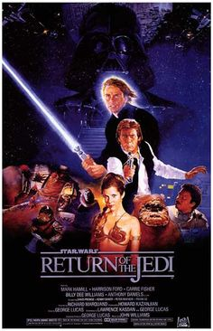 Star Wars Episode VI Return of the Jedi Movie Poster 11x17