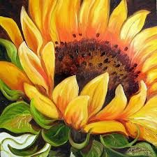 Image result for sunflowers painted on wood