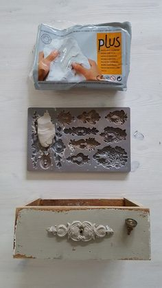 Modelliermasse verwenden (kein Tutorial) # # # # # # # Tutorial # use ., makeover diy before and after how to paint Modelliermasse verwenden (kein Tutorial) # # # # # # # Tutorial # use … - UPCYCLING IDEEN Paint Furniture, Furniture Makeover, Furniture Ideas, Clay Crafts, Diy And Crafts, Muebles Shabby Chic, Plaster Art, Iron Orchid Designs, Paperclay