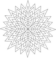 Dover Creative Haven Geometric Star Designs Coloring Page 4