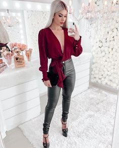 Dinner Outfits, Casual Work Outfits, Club Outfits, Work Casual, Casual Wear, Casual Shirts, Date Night Fashion, Work Fashion, Fashion Outfits