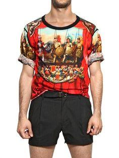 Dolce   Gabbana - Sicilian String Puppet Print T-shirt 07052835742