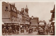 1920s Richmond, Surrey, Hill St..animated RP unused fine shop/bus detail Richmond Surrey, Kingston, 1920s, Street View, Animation, Detail, Shopping, Ebay, Animation Movies