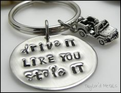 Hand stampedjeepdrivestainless steelgift for by TaylordMetals, $15.00