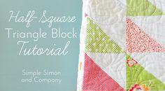 Video Tutorial to make a half square triangle block--Simple Simon and Company