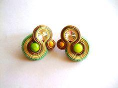 Soutache Jewelry, Enamel, Earrings, Handmade, Accessories, Isomalt, Polish, Stud Earrings, Ear Rings