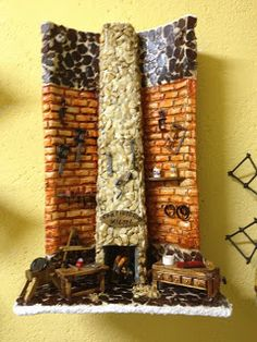 MANUALIDADES LA ANDALUZA: TEJAS Miniature Rooms, Miniature Houses, Decoupage, Ladder Decor, Texture, Wood, Display Ideas, Home Decor, Gardens