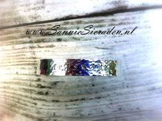 Armband tekst / naam customized zilver, glad hoogglans of gehamerd