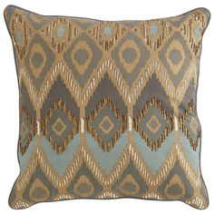 Ikat Pillow - Mineral | Pier 1 | Get up to 8.6% Cashback when you shop with your DubLi Membership! Not a member? Sign up FOR FREE today! www.downrightdealz.net