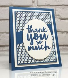 Thankful Thoughts, Layering Ovals Framelits, Moroccan Designer Series Paper, Stampin' Up!, Brian King