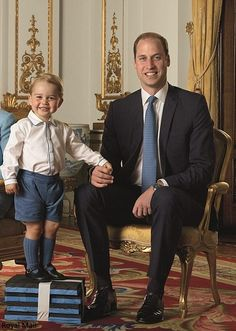 Prince William and son George
