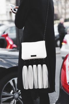 fringed bag detail