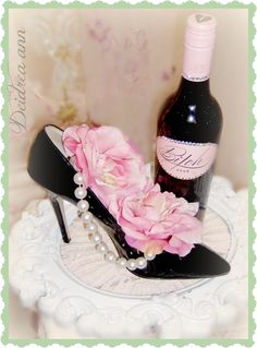 Found a pair of size 11 brand new high heels for I will be using each of them for a wine holder for Christmas gifts. Romantic Shabby Chic, Shabby Chic Pink, High Heel Boots, High Heels, Cake Festival, Putting On The Ritz, Creative Flower Arrangements, Wedding Decorations On A Budget, Flower Decorations