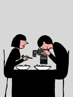 Wonderful observational illustrations critiquing our addiction to technology by French artist Jean Jullien. Jullien studied at Central Saint Martins and the Royal College of Art and is currently based in London. More images below! Art And Illustration, Jean Julien, Technology Addiction, Pictures With Deep Meaning, Satirical Illustrations, Creators Project, Arte Obscura, Illustrators, Sketches