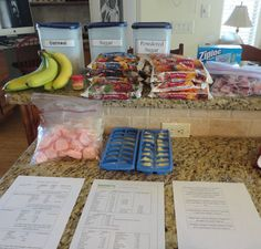 Instructions for Freezer Smoothies. If you complete 4 batches you will have 24 smoothies that will be great for a quick breakfast on the go or a healthy and satisfying after school snack. *Assembling these smoothie packets took about 35 minutes from start to finish*