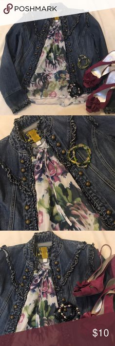 Sheer floral blouse Gorgeous flowy, sheer, short sleeved blouse with colors of purple, navy and green. Petite small Blouse only for sale in this listing  See other listings in my closet for additional items a.n.a Tops Blouses