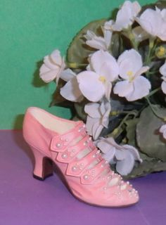 45a047e5863c Pink Porcelain Heeled Shoe with Straps