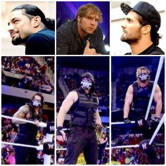 The Shield in WWE and outside WWE as their self Nikki Bella, Brie Bella, Dean Ambrose Seth Rollins, Wrestling Stars, Men's Wrestling, Robert Ri'chard, Wwe Raw And Smackdown, Roman Reigns Dean Ambrose, Wwe Funny