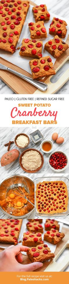 These naturally sweetened bars are filled with nourishing ingredients for a quick, on-the-go breakfast. Get the full recipe here: http://paleo.co/SWPbrekkybars