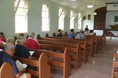 Inside the church on Pitcairn Island Pitcairn Islands, Conference Room, Table, Furniture, Home Decor, Decoration Home, Room Decor, Tables, Home Furnishings