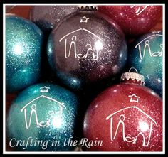 Glitter Nativity Ornaments | Crafting in the Rain
